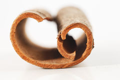 Whole cinnamon sticks against a white background Stock Image
