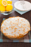 Whole citrus pie dessert Royalty Free Stock Photo