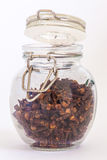 Whole cloves in jar Royalty Free Stock Photos