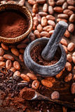 Whole cocoa beans Royalty Free Stock Photography