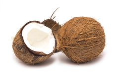 Whole coconut and a half Stock Photography