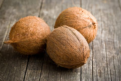 Whole coconuts Stock Image