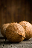Whole coconuts Royalty Free Stock Photo