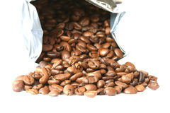 Whole coffee beans Royalty Free Stock Photo