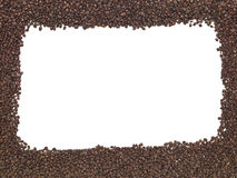 Whole Coffee Beans Frame Stock Images