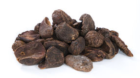 Whole Cola Nuts (isolated on white) Stock Photo