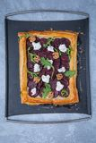 Whole Cooked Beetroot Tart stock photo