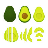 Whole and cut avocado Royalty Free Stock Images