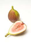 Whole and cut figs Royalty Free Stock Image
