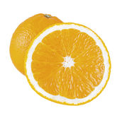 Whole and cut oranges Stock Image