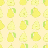 Whole and cut pears Stock Photos
