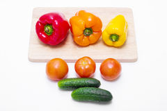 Whole different fresh vegetables on the kitchen table Stock Image