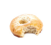 Whole donut bun pastry isolated Royalty Free Stock Photo