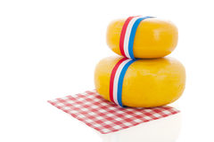 Whole Dutch cheeses Royalty Free Stock Images