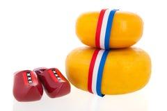 Whole Dutch cheeses Stock Photo