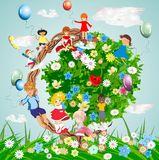 The whole earth for children Royalty Free Stock Images