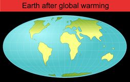 Whole earth globe after global warming Royalty Free Stock Photos