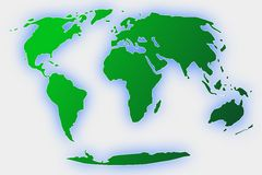 Whole earth globe in green Royalty Free Stock Photos