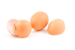Whole egg and broken shells Royalty Free Stock Photography