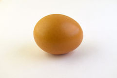 Whole egg. Single egg isolated on a white background Stock Images