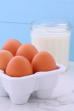 Whole eggs and heavy cream Stock Image