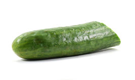 Whole English cucumber with cut end & x28;isolated& x29; Stock Photos