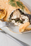 Whole fish prepared in crust Royalty Free Stock Photos