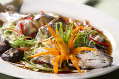 Whole fish soy sauce Royalty Free Stock Images