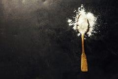 Whole flour in spoon Stock Photos