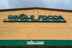 Whole Food Market Exterior Royalty Free Stock Photography