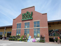 Whole Food Market exterior and sign on a clear day Stock Image