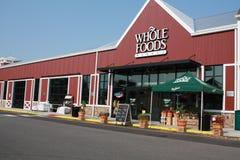 Whole Foods-Markt draußen Stockbild