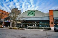 Whole Foods-Marktschaufenster-Straßenansicht Lizenzfreie Stockfotografie