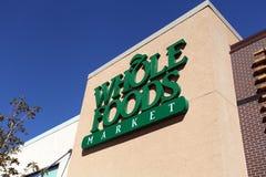 Whole Foods rynku znak Fotografia Royalty Free