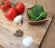 Whole foods salt and pepper Stock Image