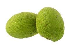 Whole fresh breadfruit on white background Royalty Free Stock Photos
