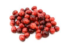 Whole fresh cranberries Stock Photo