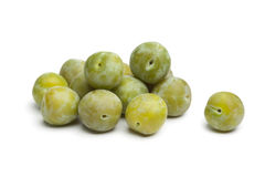 Whole fresh greengage plums Royalty Free Stock Images