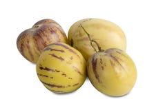 Whole fresh Pepino fruit Royalty Free Stock Image