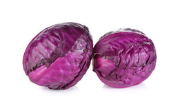 Whole fresh red cabbage on white background. Whole fresh red cabbage on a white background Royalty Free Stock Images