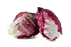 Whole fresh red radicchio on white Stock Photo