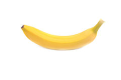Whole fresh, ripe, bright yellow, tropical banana, isolated on a white background. Healthy vitamins. Stock Photography