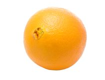Whole fresh ripe orange Stock Images