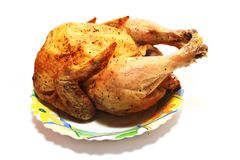 Whole fried chicken Royalty Free Stock Images