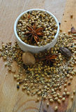 Whole garam masala Stock Images