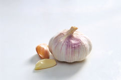Whole Garlic Stock Photo