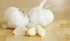 Whole Garlic, pods Peeled and Unpeeled Stock Photo