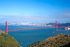 Whole Golden Gate and San Francisco Royalty Free Stock Photography