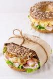 Whole Grain bagel Stock Photos