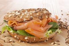 Whole grain bagel. Stock Photo